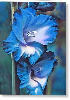 Blue Gladiolus by Jennie Marie Schell