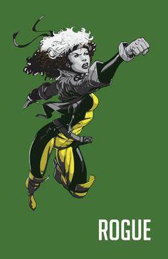 "Rogue X-men Print 11x17 by DigitalFrontier via Etsy. Part of my ""Uncanny X-Men"" Treasury: http://www.etsy.com/treasury/Njc0NDA2NXwyNzIzMzkwNzYw/the-uncanny-x-men"
