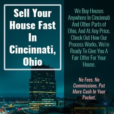 """Need to sell your house fast?We are the local """"We Buy Houses Cincinnati"""" company. We'd like to make you a FAIR and competitive cash offer Sell My House Fast, Selling Your House, Ohio House, We Buy Houses, Cincinnati, Home Buying, It Works, Check, Stuff To Buy"""