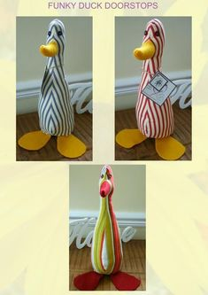 You have to see Funky Duck doorstop on Craftsy! Hobbies And Crafts, Crafts To Make, Arts And Crafts, Sewing To Sell, Sewing For Kids, Sewing Patterns Free, Free Sewing, Pattern Sewing, Doorstop Pattern Free