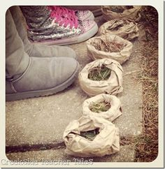 Outside Activity- Making Bird Nests  Your kids will LOVE this!