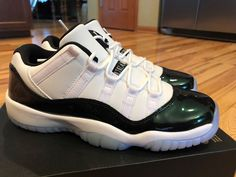 31cf8446cc555b Nike Air Jordan 11 Retro Low BG Easter Emerald Green White 528896-145 Size  7Y