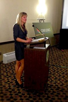 """Jenny Smith delivers a very informative presentation on """"Smart Creative"""".  You can see highlights online here http://come2confluence.ca/"""