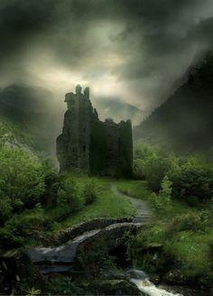 Wyldraven Castle, Scotland - Inspiration for Inverfyre in The Warrior Scotland Castles, Scottish Castles, Beautiful Castles, Beautiful Places, Beaux Arts Architecture, Castle Ruins, Medieval Castle, Abandoned Places, Abandoned Castles