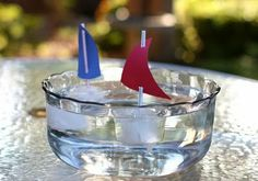 Ice cube boats for sailboat themed party