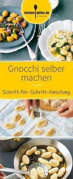 Gnocchi ganz einfach selber machen - wir zeigen euch, wie es geht! Homemade Sloppy Joes, Best Weight Loss Exercises, Hamburger Patties, Lemon Butter, Zucchini Noodles, Chorizo, Food And Drink, Low Carb, Vegetables