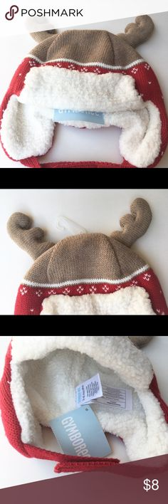 NWT Gymboree winter hat Incredibly cute infant hat with reindeer antlers!  New with tags Gymboree. This hat will be so cute on your little one during the cooler months, perfect for holiday photos too!  100% cotton shell  100% polyester lining, think & warm  *Save more, bundle with other items in my shop! Gymboree Accessories Hats