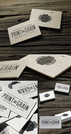 letterpress wood and cotton paper  business cards
