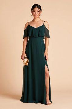 Bridesmaid Dress New Arrivals – Birdy Grey Emerald Green Bridesmaid Dresses, Bridesmaid Dresses Under 100, Wedding Dresses, Bridesmaids, Slit Dress, New Dress, Floor Length Gown, Convertible Dress, Cold Shoulder Dress