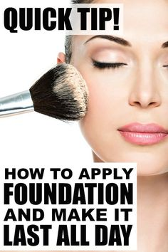 If you've every wondered how to apply foundation so it LASTS ALL DAY, this beauty tip is for you! It will teach you how to minimize your pores and create that flawless look we all know and love with one simple change to your foundation routine. This is one of my favorite makeup artist tricks because it requires minimal effort and really does keep my makeup in place for the entire day. Full instructional tutorial included!
