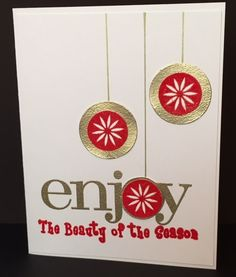 christmas ornaments - Homemade Cards, Rubber Stamp Art, & Paper Crafts - Splitcoaststampers.com
