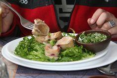 """""""Locos al Pil Pil"""" In """"Emeterios Restaurant"""" In Con Con, Viña del Mar, Chile."""