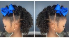 Curly Fro Hawk Tutorial | Kids Natural HairStyle | IAMAWOG