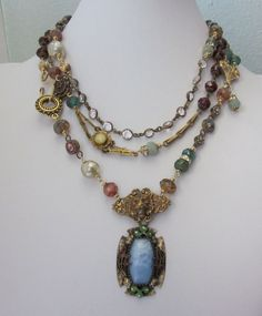 Antique Assemblage Repurposed Wrap Necklace by jryendesigns