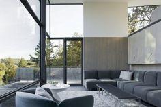salon - Maison contemporaine béton par Cooper Joseph Studio - Sonoma, Usa