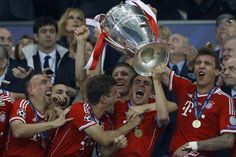 ~ Philipp Lahm, captain of Bayern Munich, lifting the Champions League Trophy ~