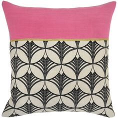 Lexi Bright Pink Pillow design by Villa Home