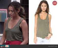 Emily's green tank top on Pretty Little Liars.  Outfit Details: http://wornontv.net/45127/ #PLL