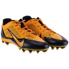 Game-Used Pittsburgh Steelers Dri Archer Fanatics Authentic Black and Yellow Nike Cleats October 26, 2014 vs. Indianapolis Colts