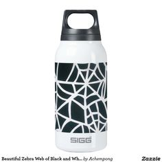 Beautiful Zebra Web of Black and White Stripes