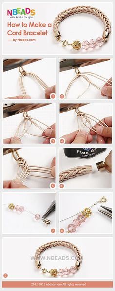 DIY Beautiful cord bracelets