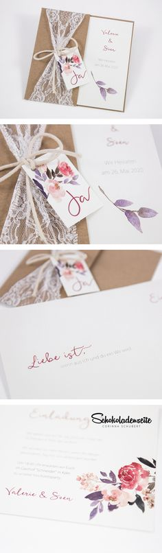 Vintage Save the Date Karte mit Kraftpapier Design und