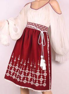 how to pair outfits Folk Embroidery, Embroidery Fashion, Folk Fashion, Womens Fashion, Ukrainian Dress, Traditional Fashion, Folk Costume, Retro Outfits, Historical Clothing