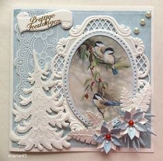 Voorbeeldkaart - Kerst - Categorie: Scrapkaarten - Hobbyjournaal uw hobby website