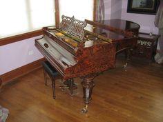 "RARE 1898 C Bechstein 6' 7"" Root Walnut Burl Grand Piano Model V Berlin Germany | eBay"