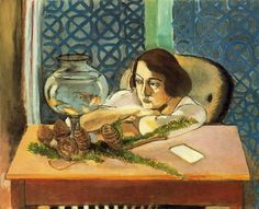 Henri Matisse, Woman Before a Fish Bowl, 1921