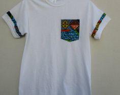 Camiseta Print africano cera impresión camiseta por Shipella