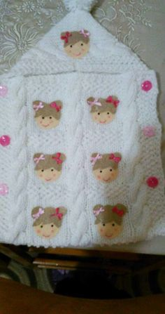 This Pin was discovered by Gül Crochet Bebe, Knit Crochet, Knitting Patterns, Crochet Patterns, Baby Shawl, Knitted Poncho, Sleeping Bag, Baby Knitting, Snug