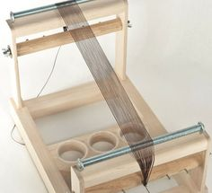 A warped bead loom