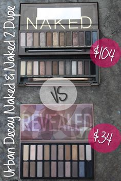 Cheap Naked and Naked 2 Palette Dupe