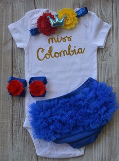 d1cbf70db8d Miss Colombia Baby Outfit - VamosColombia.co