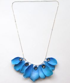 (studs and pearls): DIY: Watercolor Petal Necklace