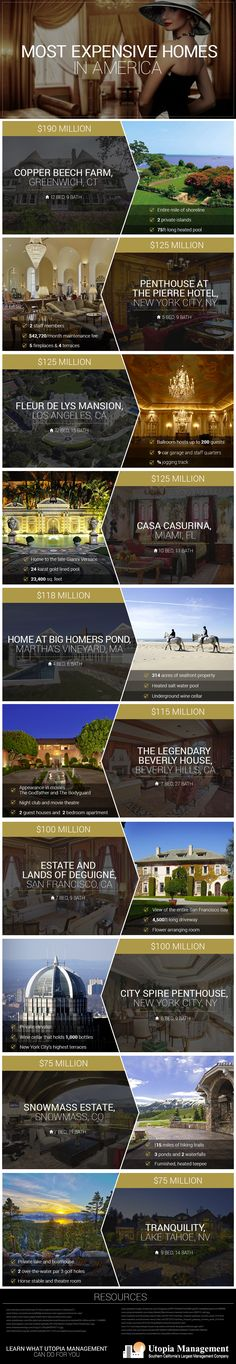 The Most Expensive Homes In America (Infographic) image Utopia ExpensiveHomes IG2 v24