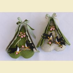 Tapestry Weaving, Embroidery, Christmas Ornaments, Holiday Decor, Spring, Fabric, Easter Decor, Felt House, Embellishments