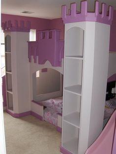 Castle Beds For Girls, Kid Beds, Bunk Beds, Princess Room, Princess Beds, Diy Toddler Bed, Creative Kids Rooms, Diy Kids Furniture, Superhero Room