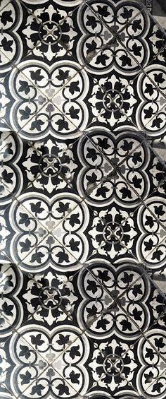 Classic cement tile pattern.