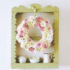 Bloom Beauty:  Make your own garden-fresh wreath.