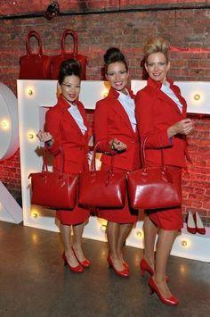 Virgin Atlantic cabin crew new uniform 2014