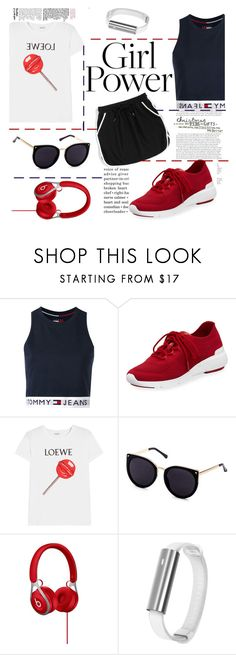 """""""go sporty, come back fit"""" by evelin93 ❤ liked on Polyvore featuring Tommy Hilfiger, MICHAEL Michael Kors, Loewe and Misfit"""