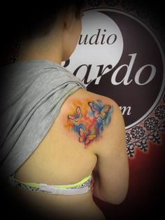 #ink #inked #tattoo #tattooartist #studio #bardo #studiobardo #watercolor #color #watercolortattoo #colorfull #colortattoo #butterflytattoo #butterfly #backpiecetattoo