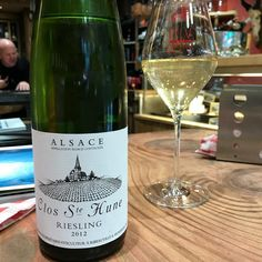 Gorgeous bottle from Trimbach. Fab balance. clos st hune riesling