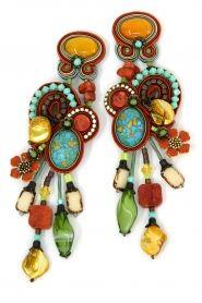 Escapade show stopping long clip on earrings by Dori Csengeri