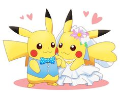 Just married Pokemon Images, Pokemon Pictures, Disney Pictures, Cute Pictures, Pikachu Art, Cute Pikachu, Cool Pokemon, Pikachu Evolution, All Cartoon Characters