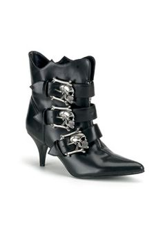FURY-06 Skull Ankle Boots    a must have with the wedding dress