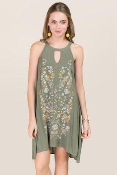 Briana Embroidered Shift Dress