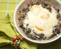 Baked Eggs and Swiss Chard serves 3 1/4 pound thick-cut bacon, diced 1 ...